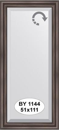 Зеркало 51x111см с фацетом 25мм в багетной раме палисандр Evoform BY 1144