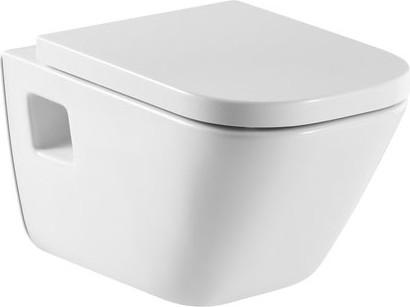 Подвесной унитаз с горизонтальным выпуском, белый Roca The GAP 346477000