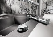 Кухонная мойка оборачиваемая с крылом, с клапаном-автоматом, гранит, жасмин Blanco ELON XL 6 S-F 519514