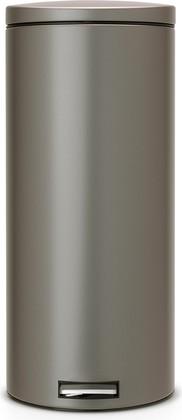 Мусорный бак 30л с педалью, MotionControl, платиновый Brabantia 478802