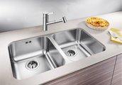 Кухонная мойка без крыла, с клапаном-автоматом, нержавеющая сталь полированная Blanco SUPRA 340/340-U 519716