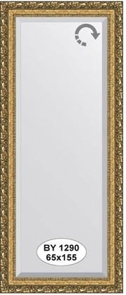 Зеркало 65x155см с фацетом 30мм в багетной раме виньетка бронзовая Evoform BY 1290