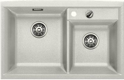 Кухонная мойка основная чаша слева, без крыла, с клапаном-автоматом, гранит, жемчужный Blanco AXIA II 8 520534