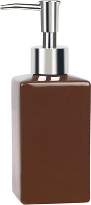 Ёмкость для жидкого мыла коричневая Spirella QUADRO 1013658