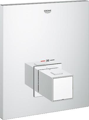Термостат центральный встраиваемый для душа без встраиваемого механизма, хром Grohe GROHTHERM Cube 19961000