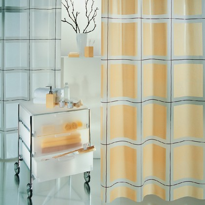 Штора для ванны 180x200см шампань Spirella SCOTT 1000390