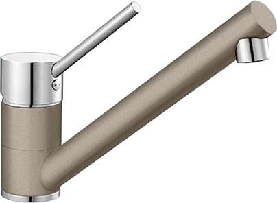 Компактный однорычажный смеситель для кухонной мойки, хром / серый беж Blanco ANTAS 517639