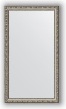 Зеркало в багетной раме 64x114см виньетка состаренное серебро 56мм Evoform BY 3200