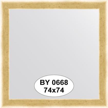 Зеркало 74x74см в багетной раме травлёное золото Evoform BY 0668