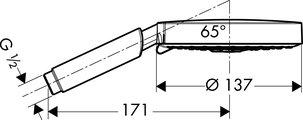 Ручной душ, 3 вида струи, хром Hansgrohe Raindance S 150 Air 28519000