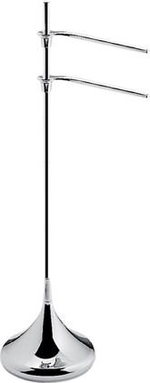 Стойка с полотенцедержателями 900мм, хром Colombo KHALA B1838