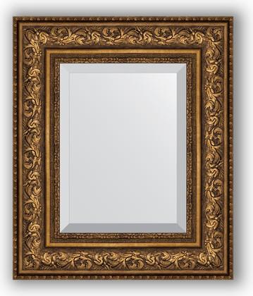 Зеркало с фацетом в багетной раме 50x60см виньетка состаренная бронза 109мм Evoform BY 3375