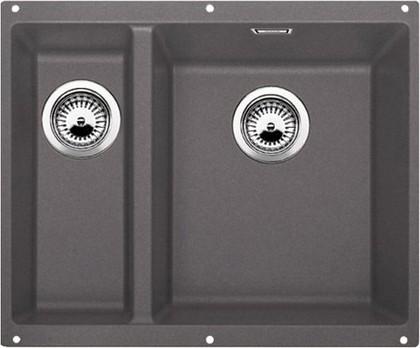 Кухонная мойка без крыла, основная чаша справа, с клапаном-автоматом, гранит, тёмная скала Blanco SUBLINE 340/160-U 520403