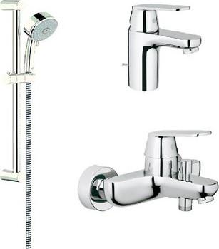 Комплект смесителей для раковины и для ванны с душевым гарнитуром, хром Grohe EUROSMART Cosmopolitan 11693800