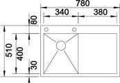 BLANCO ZEROX 4 S-IF/А Схема с размерами вид сверху
