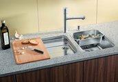 Кухонная мойка без крыла, с клапаном-автоматом, нержавеющая сталь полированная Blanco SUPRA 340-U 518200