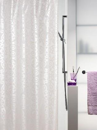 Штора для ванны 240x180 текстильная жемчужно-белая Spirella ORSINI 1013221