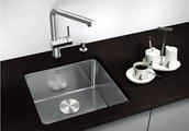 Кухонная мойка оборачиваемая без крыла, с клапаном-автоматом, нержавеющая сталь зеркальной полировки Blanco ANDANO 340-U 518306
