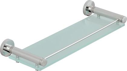 Полка стеклянная с ограничителем L400 хром Сунержа Каньон 00-3004-0400