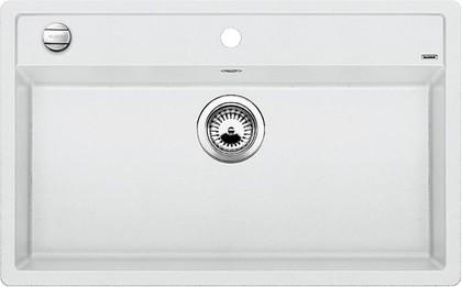 Кухонная мойка без крыла, с клапаном-автоматом, гранит, белый Blanco DALAGO 8 516633