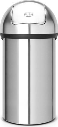 Мусорный бак с нажимной крышкой 60л матовая сталь Brabantia PUSH BIN 484520