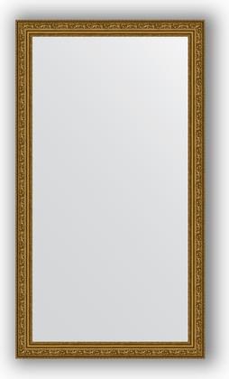 Зеркало в багетной раме 64x114см виньетка состаренное золото 56мм Evoform BY 3199