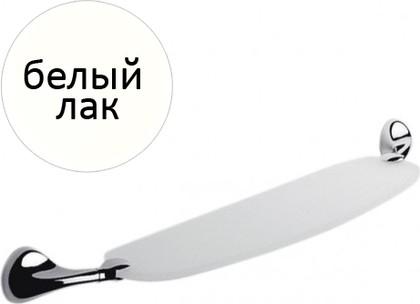 Полка для ванной стеклянная с держателями 70см, белый лак Colombo MELO B1216.LOO
