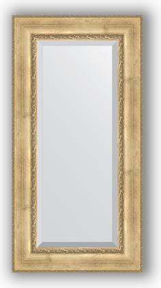 Зеркало с фацетом в багетной раме 62x122см состаренное серебро с орнаментом 120мм Evoform BY 3506