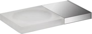 Мыльница настенная прямоугольная, матовое стекло / хром Colombo DOMINO B3401.wE
