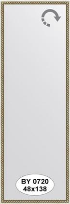 Зеркало 48x138см в багетной раме витая латунь Evoform BY 0720