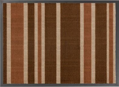 Коврик придверный 50x75см для помещения коричневые полоски, полиамид Golze HOMELIKE 1676-40-18