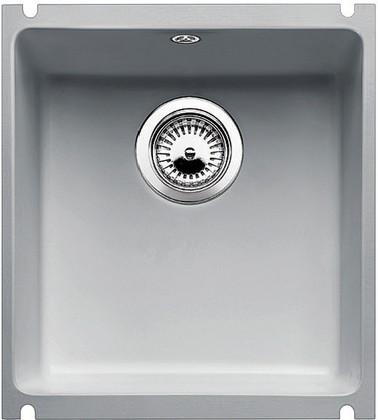 Кухонная мойка без крыла, с клапаном-автоматом, керамика, серый алюминий Blanco SUBLINE 375-U PuraPlus 516041