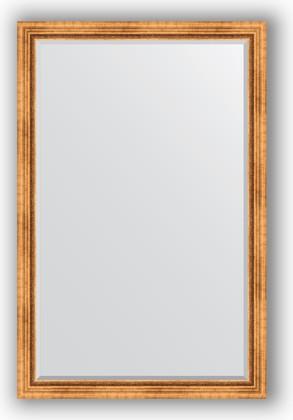 Зеркало с фацетом в багетной раме 116x176см римское золото 88мм Evoform BY 3620