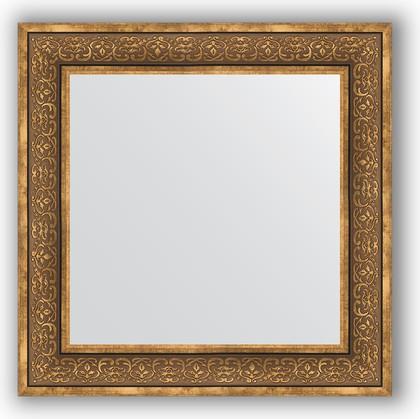 Зеркало в багетной раме 73x73см вензель бронзовый 101мм Evoform BY 3159