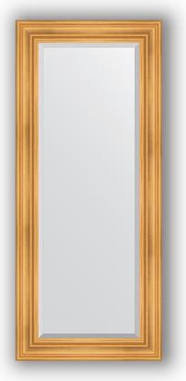 Зеркало с фацетом в багетной раме 64x149см травленое золото 99мм Evoform BY 3548