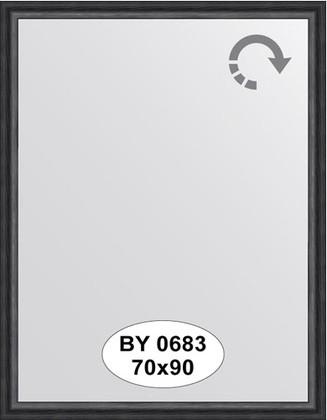 Зеркало 70x90см в багетной раме дуб чёрный Evoform BY 0683