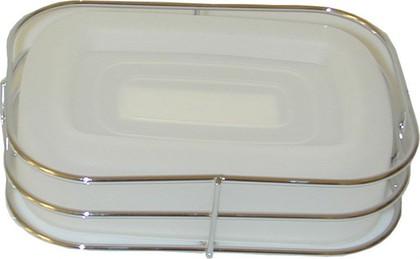 Мыльница пластиковая прозрачная Spirella CHICAGO 4003365