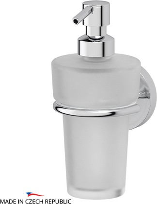 Дозатор для жидкого мыла настенный матовый хрусталь/хром Ellux ELE 006/ELU 004