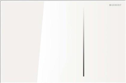 Клавиша двойного смыва, белое стекло Geberit Sigma70 115.620.SI.1