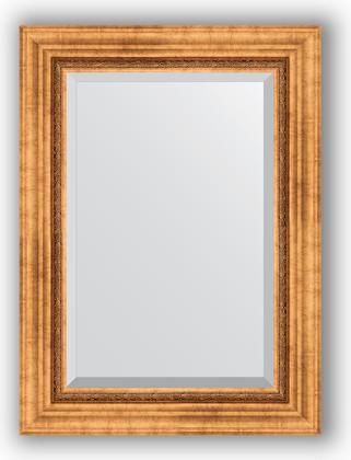 Зеркало с фацетом в багетной раме 56x76см римское золото 88мм Evoform BY 3386