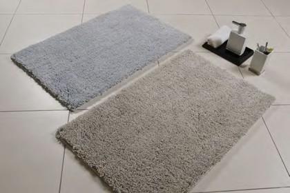 Коврик для ванной комнаты 50x80см полиэстер бежевый Spirella PLUME 4007057