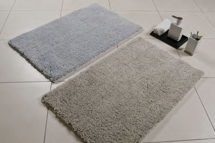 Коврик для ванной комнаты 50x80см полиэстер серый Spirella PLUME 4007058