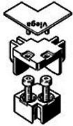 Набор комплектующих для соединения элемента 90°, глянцевый, Viega Advantix Vario 711757