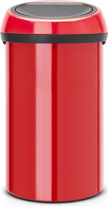 Ведро для мусора 60л красное Brabantia TOUCH BIN 402487