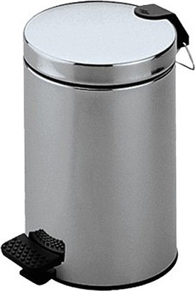 Ведро для мусора с педалью 5л, хром Keuco PLAN 04988010000