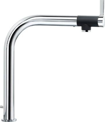 Смеситель для кухонной мойки с высоким изливом и встроенной системой управления клапаном-автоматом, рычаг спереди, хром Blanco VONDA Control 518436