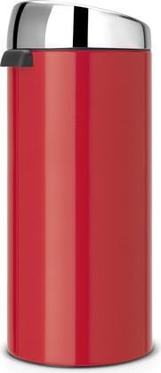 Мусорный бак с педалью 30л красный Brabantia TOUCH BIN 483844