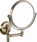 Косметическое зеркало без подсветки бронза d133мм Bemeta 106101697