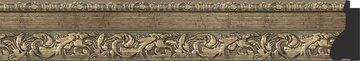Зеркало с фацетом в багетной раме 65x95см виньетка античная латунь 85мм Evoform BY 3437