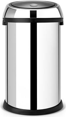 Ведро для мусора 50л полированная сталь Brabantia TOUCH BIN 243745